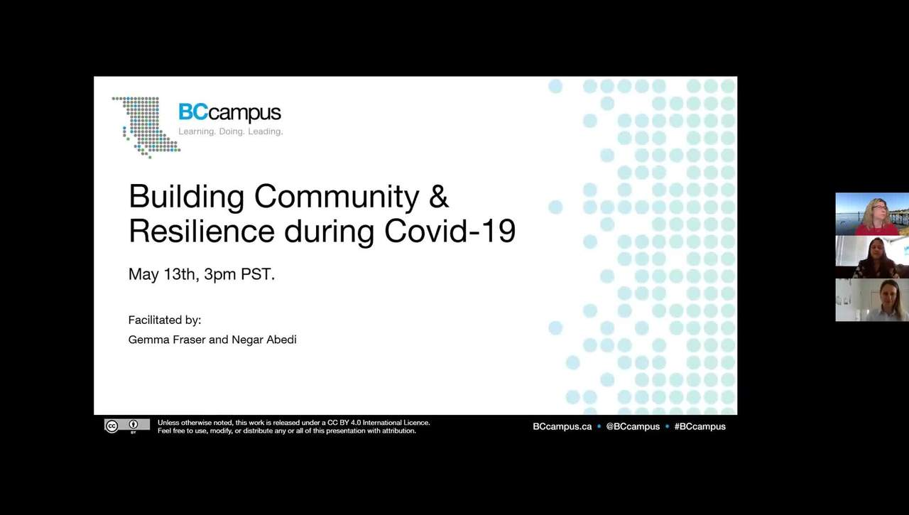 Building Community & Resilience during COVID-19 (May 13, 2020)
