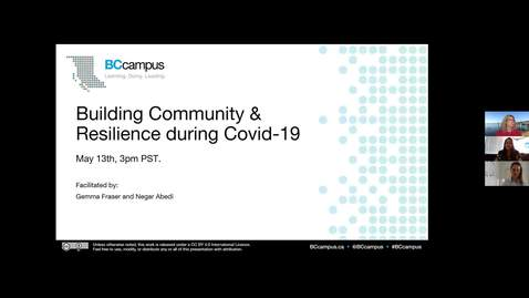 Thumbnail for entry Building Community & Resilience during COVID-19 (May 13, 2020)