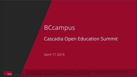 Thumbnail for entry 2019 Cascadia Open Education Summit - Keynote with Karen Cangialosi