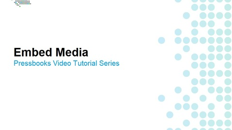 Thumbnail for entry How to Embed Media