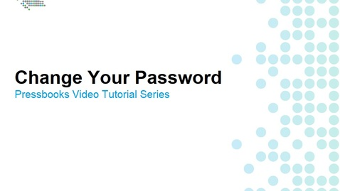 Thumbnail for entry How to Change Your Password