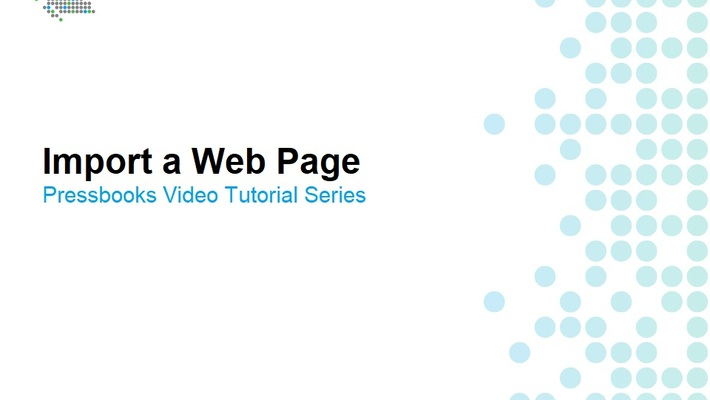 How to Import a Web Page
