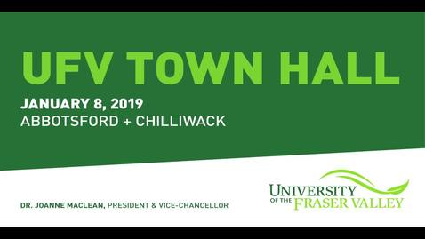 Thumbnail for entry President's Town Hall - Jan 8, 2019 - Abbotsford