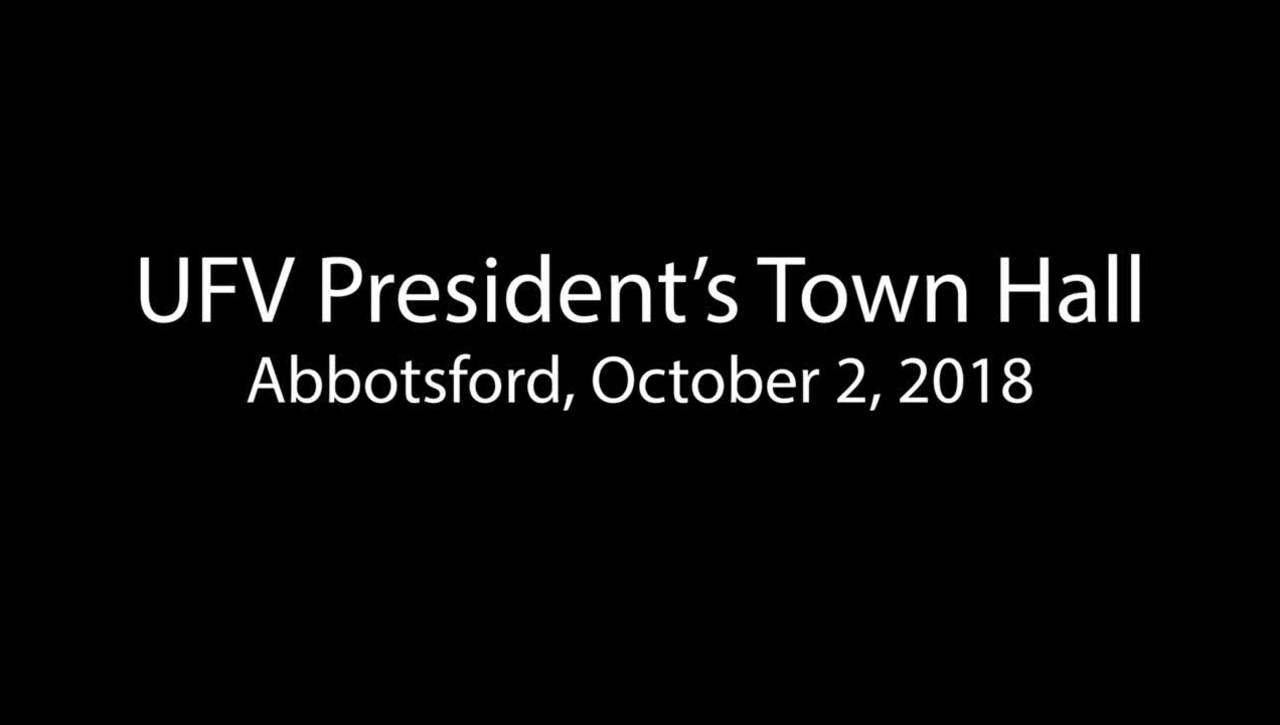 President's Town Hall Meeting Abbotsford Oct 2, 2018.mp4