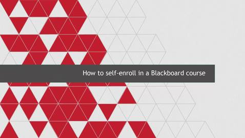 Thumbnail for entry How to self-enroll in a Blackboard course
