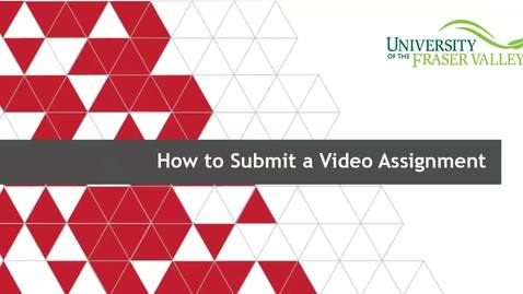 Thumbnail for entry How to submit a video assignment (for students)