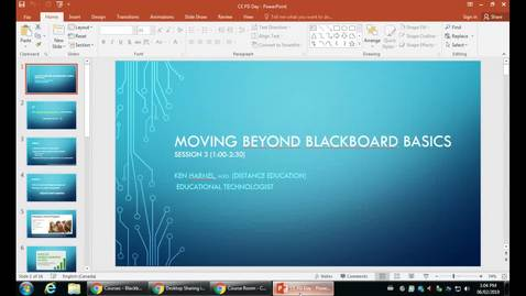 Thumbnail for entry PD Day: Moving Beyond Blackboard Basics