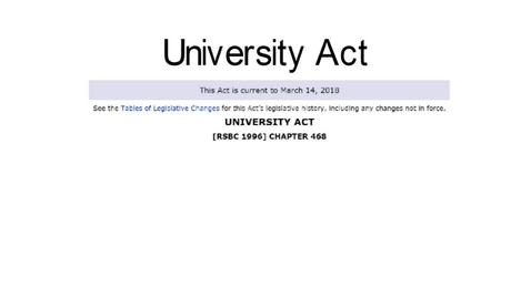 Thumbnail for entry The University Act