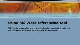 Thumbnail for entry How to use MS Word's Referencing Tool to help you cite accurately - Quiz