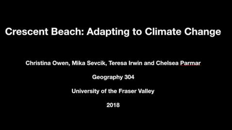 Thumbnail for entry Climate Change and Sea Level Rise in Crescent Beach