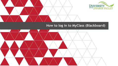 Thumbnail for entry How to Access MyClass (Blackboard)