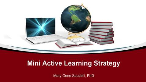 Thumbnail for entry Mini Active Learning Strategy