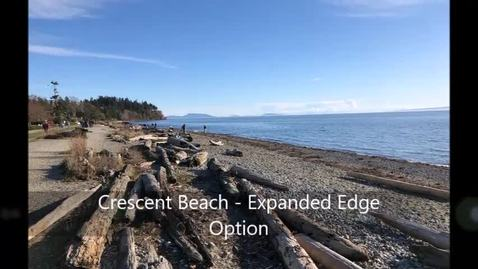 Thumbnail for entry Expanded Edge option proposed for Crescent Beach