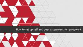 Thumbnail for entry How to set up a Self and Peer Assessment for Groupwork