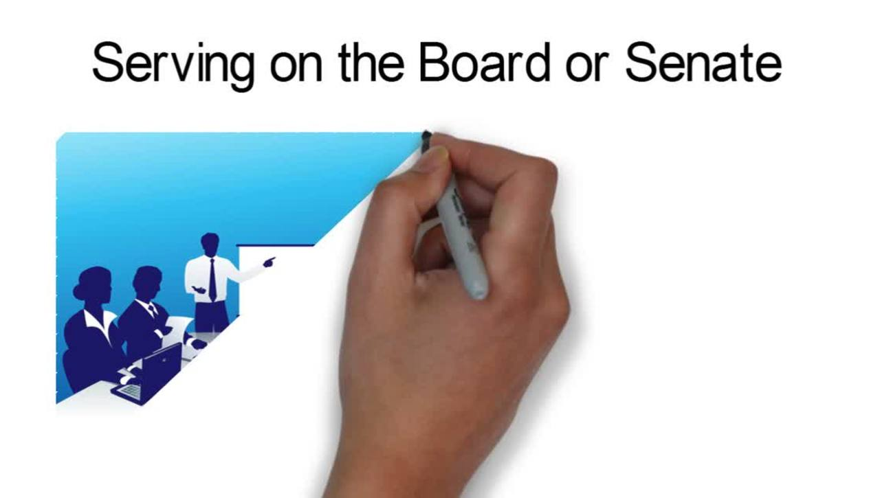Serving on the Board and Senate