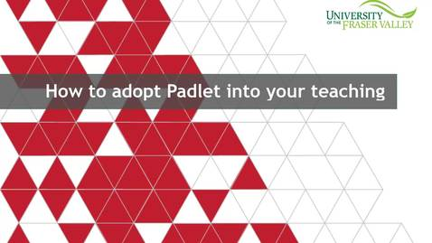 Thumbnail for entry How to adopt Padlet into your teaching