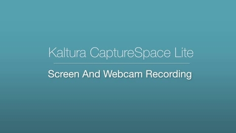 CaptureSpace Lite - Screen and Webcam Recording
