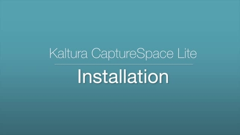 CaptureSpace Lite - Installation