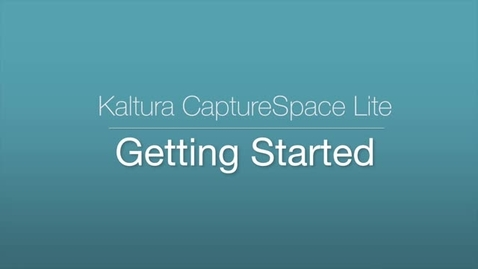 CaptureSpace Lite - Getting Started