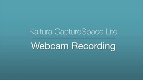 CaptureSpace Lite - Webcam Recording