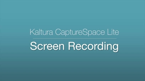 CaptureSpace Lite - Screen Recording