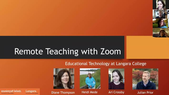 Remote Teaching with Zoom (Basics) - March 30th 2020