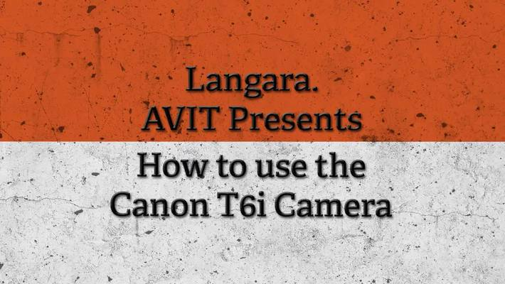 Canon DSLR Instructional Video