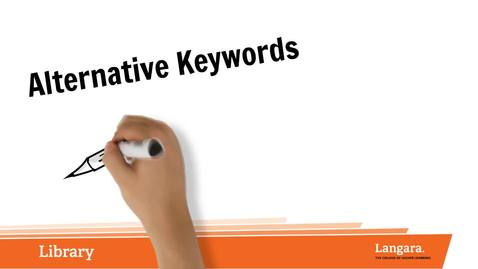 Thumbnail for entry Alternative Keywords