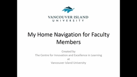My Home Navigation for Faculty Members