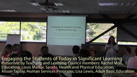 Thumbnail for entry Engaging the Students of Today in Significant Learning - VIU Teaching and Learning Council