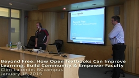 Thumbnail for entry 2015-01-15 Clint Lalonde and Jessie Key Open Textbooks