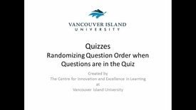 Thumbnail for entry Randomizing Question Order when Questions are in the Quiz