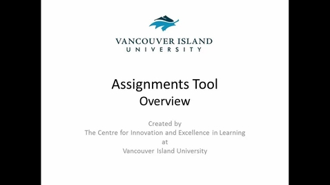 Thumbnail for entry Assignments Tool - Overview for Learners