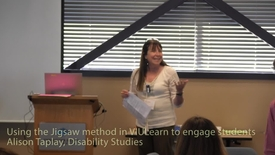 Using the Jigsaw method in VIULearn (D2L) to engage students - Alison Taplay, Disability Studies