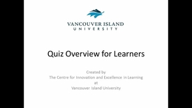 Quizzes Overview for Learners