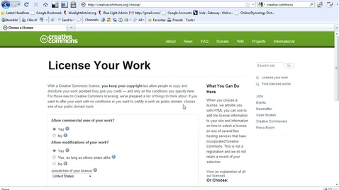 Thumbnail for entry Creative Commons Licensing Offline Work Walkthrough