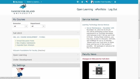 Thumbnail for entry Content Tool Navigation for Faculty Members