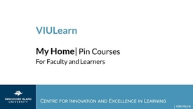 Thumbnail for entry Pinning Courses in VIULearn