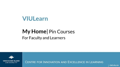 Pinning Courses in VIULearn