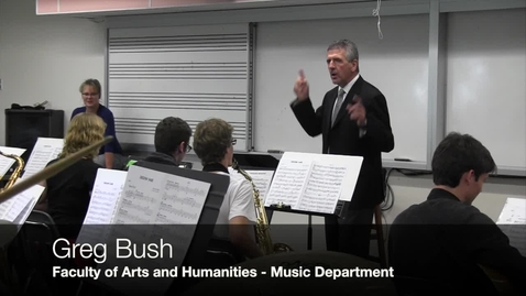 Thumbnail for entry Greg Bush on memorable learning in the Jazz Ensemble