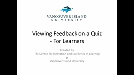 Viewing Quiz Feedback - For Learners
