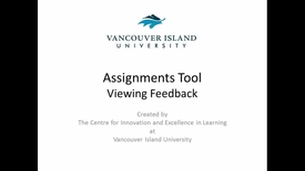 Assignments Tool - Viewing Feedback for Learners