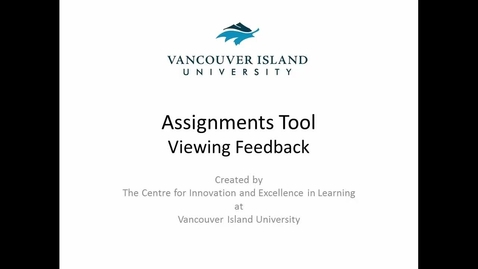 Thumbnail for entry Assignments Tool - Viewing Feedback for Learners