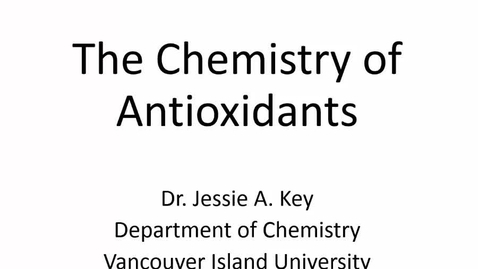 Thumbnail for entry The Chemistry of Antioxidants