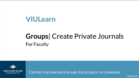Thumbnail for entry VIULearn: Creating Private Journals