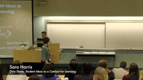 Thumbnail for entry Dirty Slates: Student Ideas as a Catalyst for Learning