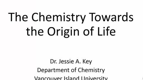 Thumbnail for entry The Chemistry Towards the Origin of Life