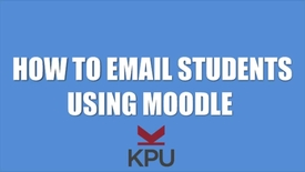 Thumbnail for entry How to email students in Moodle