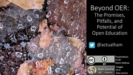 Thumbnail for entry Beyond OER with Dr. Robin DeRosa: Promises, Pitfalls, and Potential of Open Education