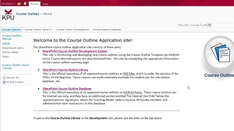 Thumbnail for entry KPU Course Outlines: user tips and hyperlinked documents) in the new template